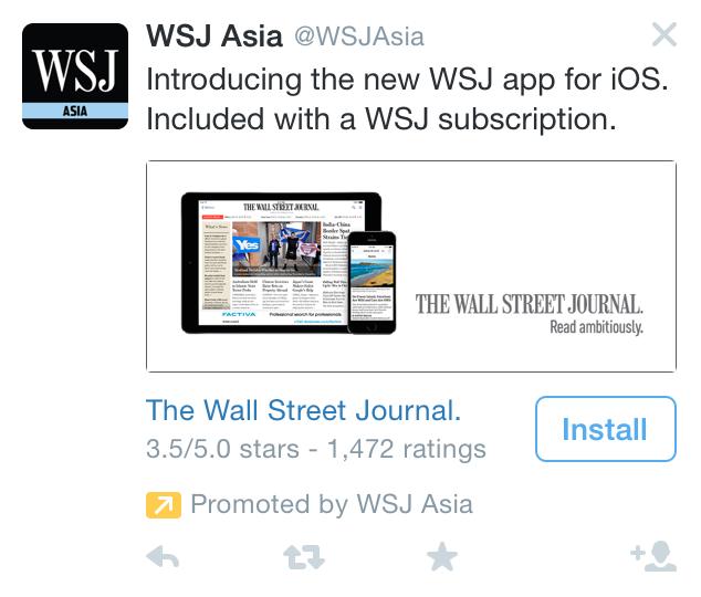 WSJ Twitter App Install Ad 1