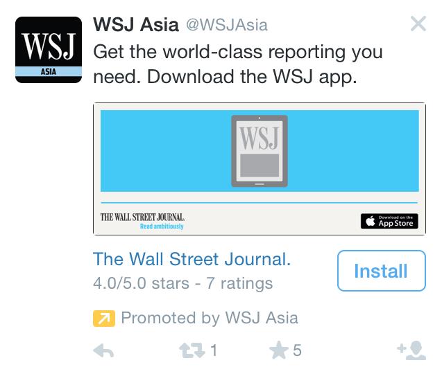 WSJ Twitter App Install Ad 2