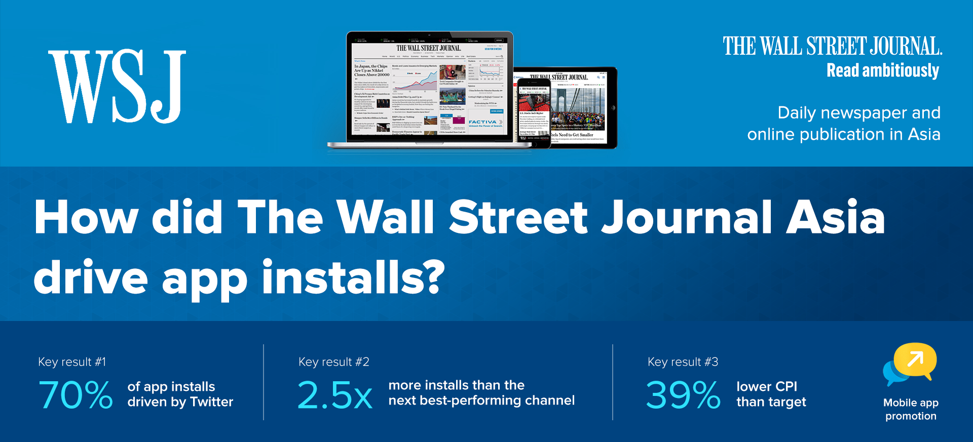 Click to read the full WSJ Twitter Mobile App Ad Campaign Case Study